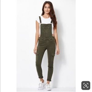 Kendall + Kylie stretch overalls